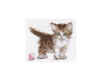Cross Stitch Kit Kitten
