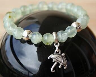 prehnite bracelet semi precious beads