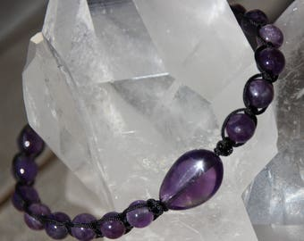 Pearl Amethyst shamballa bracelet