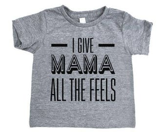 Infant All the Feels Printed T-Shirt, Infant Clothing, Children's Clothing, Baby Clothing, Kid's T-shirts, The Feels Tee, Funny Kid's Shirt