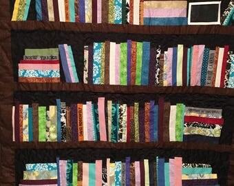 Bookshelf quilt | Etsy : quilt bookshelf - Adamdwight.com