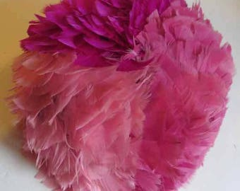 Gorgeous vintage feather hat made in U.S.A.