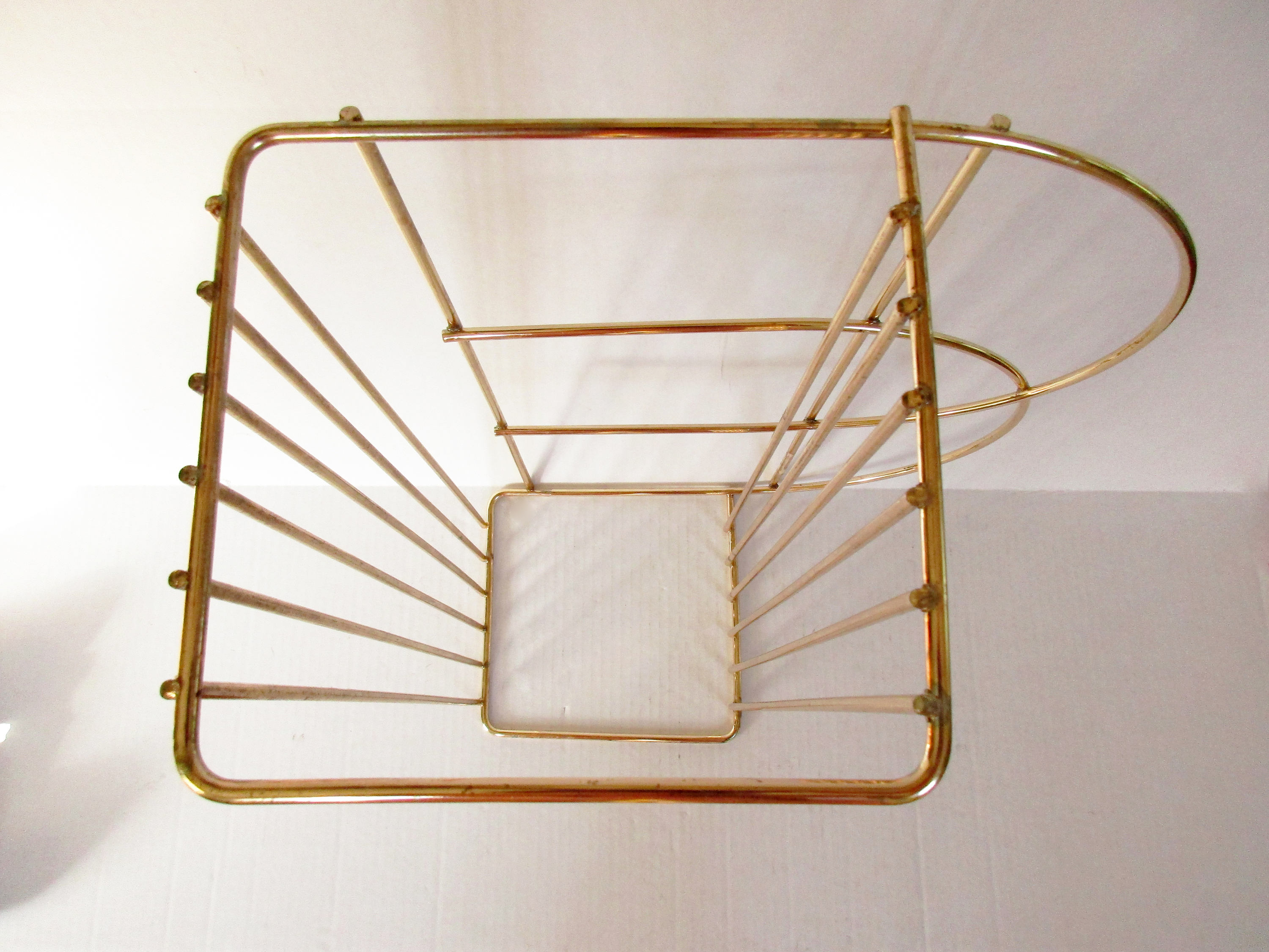 Gold Metal Wire Hanging Shelf Mid Century Small Gold Metal Shelf