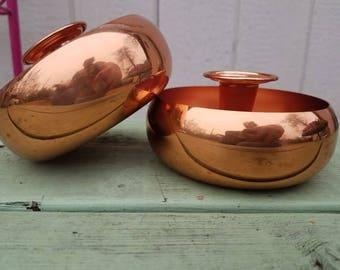 Coppercraft guild copper candlestick holders