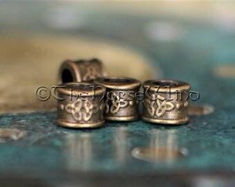 Beard Beads Viking Beard Rings Celtic Hair Beads Dreadlocks Beads Dwarven Beard Rings, Viking Amulet Asatru Celtic Jewelry Viking Jewelry