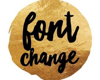 Font Change ADD ON - Custom Font Change Listing