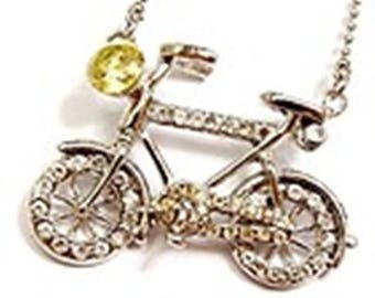 swarovski pendant 38mm bicycle + chain available