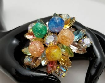 Rhinestone And Resin Bead Pin
