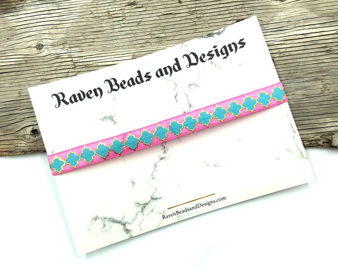 BLOOM: cotton candy elastic choker