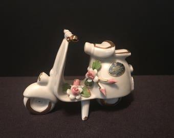 Nuova Capodimonte Porcelain Scooter