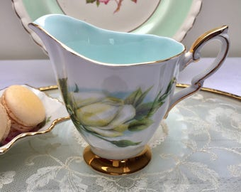 Delightful White Rose Harry Wheatcroft 'Virgo' Vintage Royal Standard Creamer