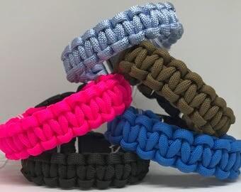 Cobra Knot Paracord Bracelet with Buckle