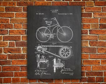 Bicycle Patent Canvas painting, Bicycle Poster, Bicycling Wall Art, Bicycle Wall Art, Bicycle Wall Print, Cycling Wall Decor, Bike gifts