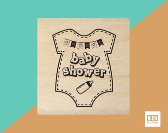 Baby Shower - 6cm Rubber Stamp (DODRS0009)