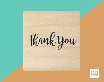 Thank You Script - 3cm Rubber Stamp (DODRS0117)