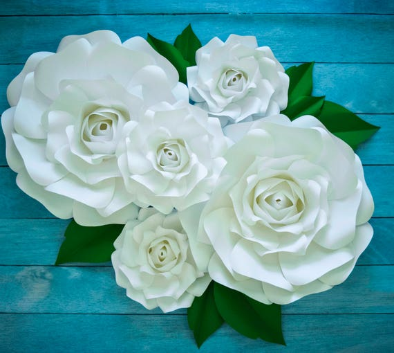 Large paper rose template giant paper flower printable template il570xn mightylinksfo