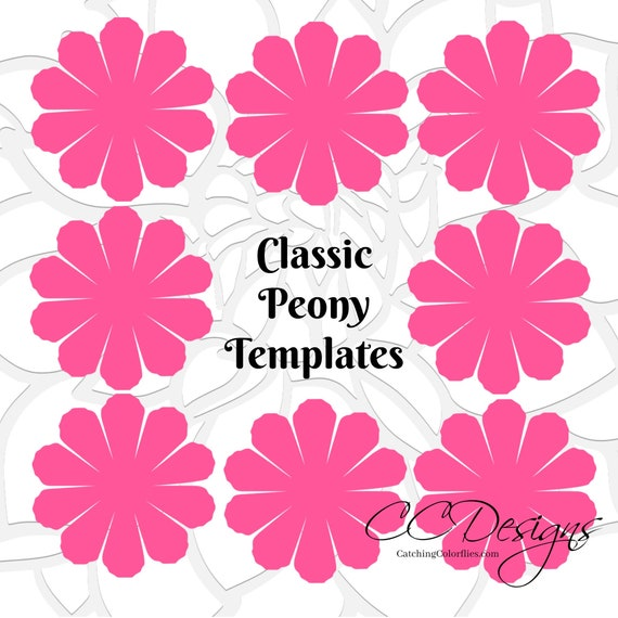 Paper flower printable templates diy peony paper flowers pdf il570xn mightylinksfo