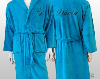 Personalized Plain Polar Robe Ref. Sweet - Turquoise