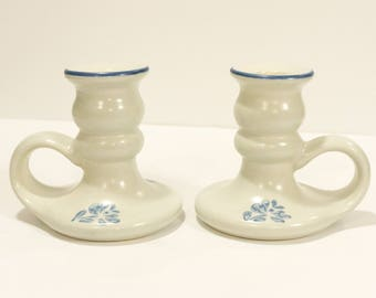 Vintage DIscontinued Handled Candleholder in Yorktowne (USA) by Pfaltzgraff