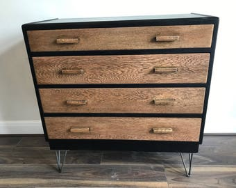 Upcycled spray-paint retro chest of drawers