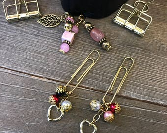 SWEET VALENTINE with HEART Bead Planner Clip