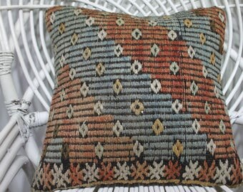 euro sham cover 16x16 kilim pillow case handmade pillows tapestry pillowswool pillow turkish cushions 16x16 bohemian throw pillows 3499