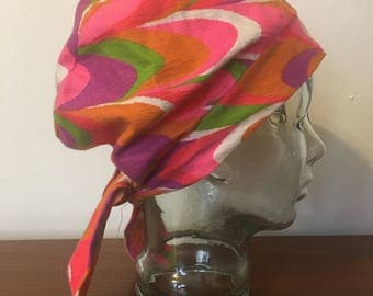 Groovy 60s Patterned Hat