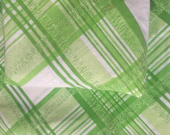 Groovy Vintage Green Lattice Twin Sheet Set