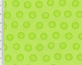 Dot Dot Dash - per Yd - by Me and My Sister - Moda - Lime Green Dots