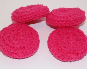 Scrubbies Crochet Set of 4 Pink Pansy Color