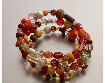Citrus colors wrap bracelet .