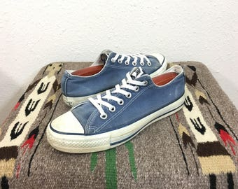 90's vintage converse chuck taylor tie sneaker canvas shoes made in usa size 6.5