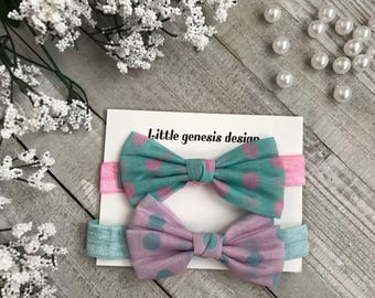 Polka dot headband, photo shoot, baby headband, set of headbands