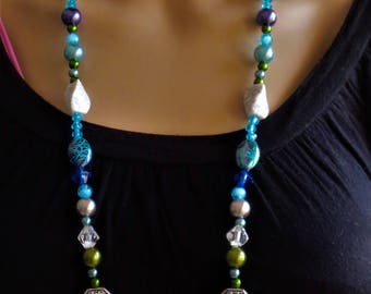 Art Pearl Necklace in Bohemian style