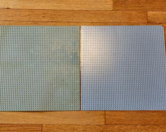 """2 Large Lego 4186 Gray Baseplates, 15"""" x 15"""", 48 x 48 Studs, See Pictures"""