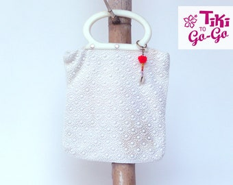 White Sunshine: Soft sided beaded bag