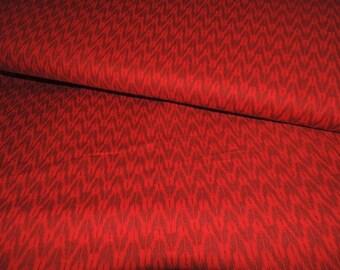 MICHAEL MILLER fabric DC6275-CHER-D : Hani Indo Ikat cherry / Cut 50x55 cm