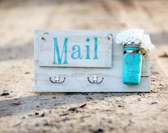 Entry Door Mail Organizer- Off White