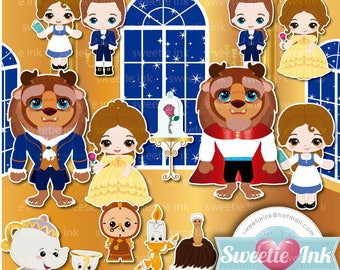 Beauty and the Beast Kawaii