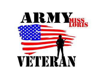 ARMY VETERAN flag soldier   SVG   Cricut explore file t shirt decalscrapbook vinyl decal wood sign cricut cameo Commercial use