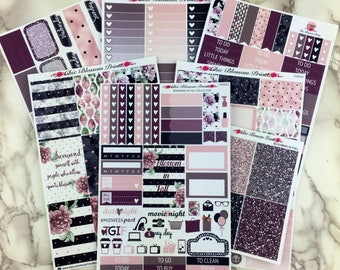 Blooming In Fall Collection, Weekly, Kit, Happy Planner, SewMuchCrafting, Plum Planner, Planner Stickers, Plan with Me, ChicBlossomPrints