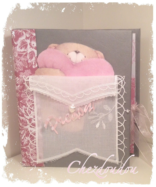 album shabby pour bebe fille rose gris et blanc. Black Bedroom Furniture Sets. Home Design Ideas