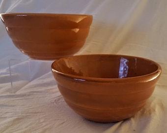 Vintage American Bauer Pottery #18 Ringware  Orange Nesting Ceramic Beehive Bowls