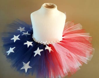 4th of July tutu fourth of july  red white blue tutu patriotic tutu american tutu independence day tutu american flag tutu white stars tutu