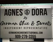 Large Car Decal - Agnes and Dora - Design Supplied