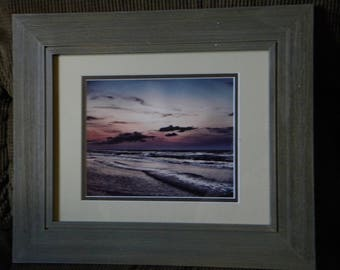 Serenity's Sunset: Individually numbered artist's print. Matted & framed original photography by PatriciaDawnDesigns
