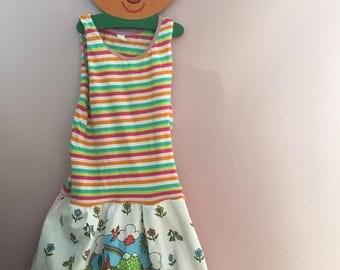 Sommerkleid zomerjurk dress Kinderkleidung Kinderkleid 104 110 116 vintage 70er retro ddr