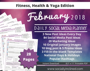 Social Media Planner - Fitness Coaches - 10 FEB Images, 84 post ideas, 28 marketing tips, 10 blog post & 5 promo ideas - Beachbody coaches