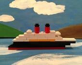 Mini LEGO Cruise Ship Kit - 32 pieces - Fish Extender/Stocking Stuffer Ideas