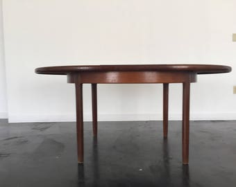 Knoll Walnut Dining Table with Leaf